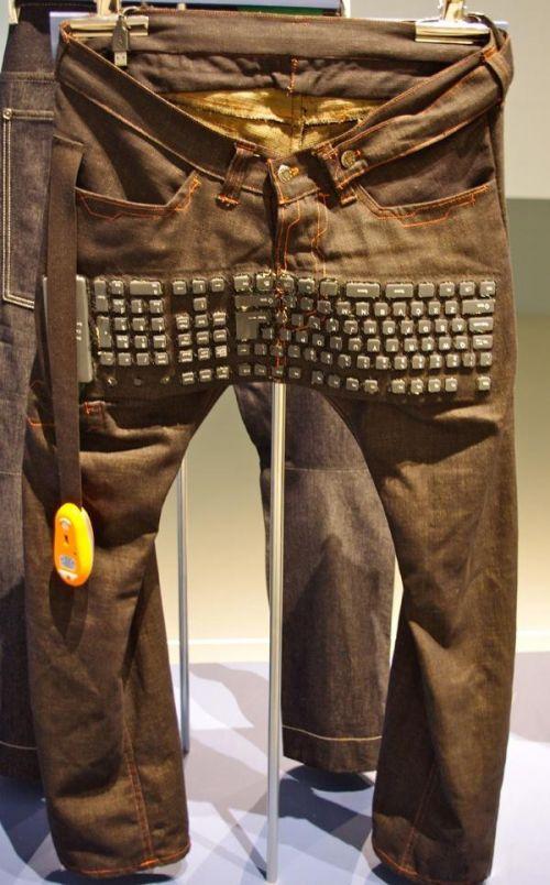 键盘牛仔裤-1