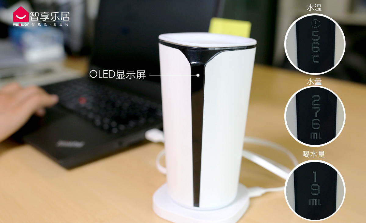 Cuptime智能水杯2代OLED显示屏