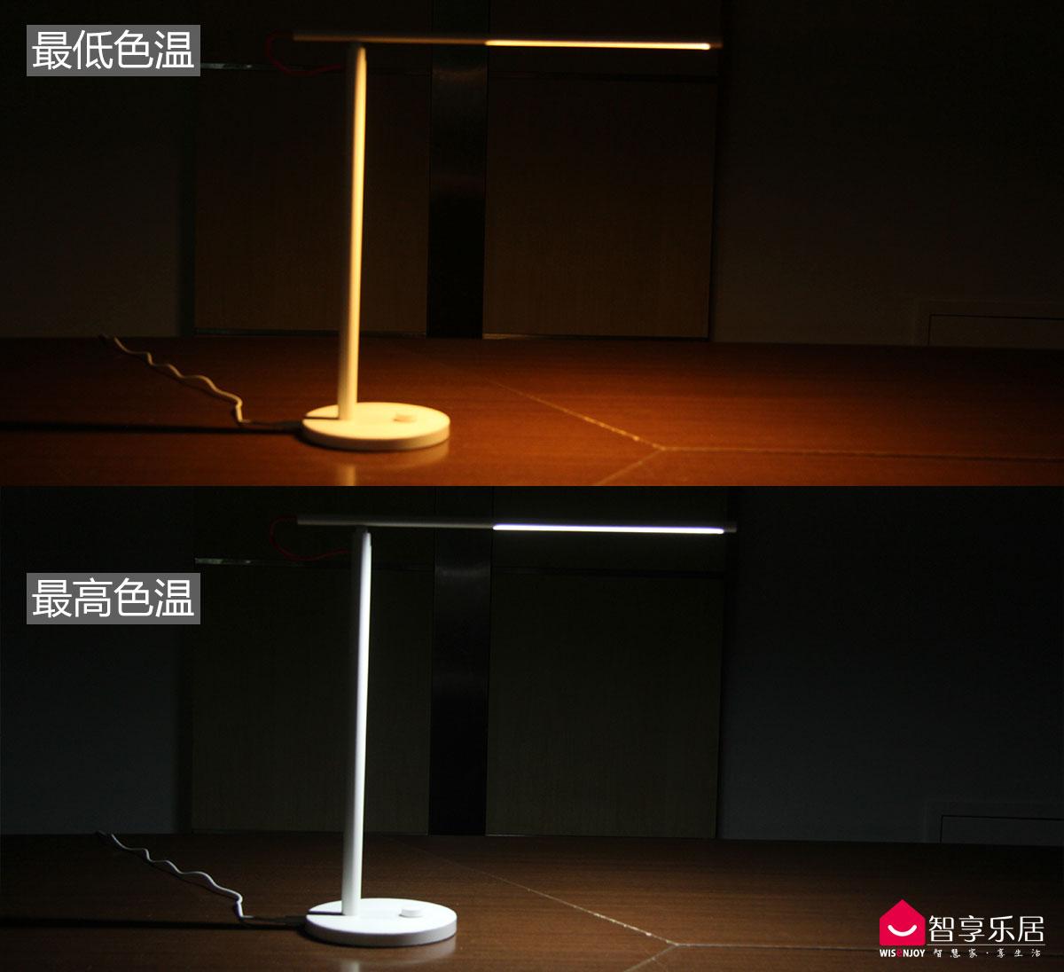 米家台灯色温效果图对比